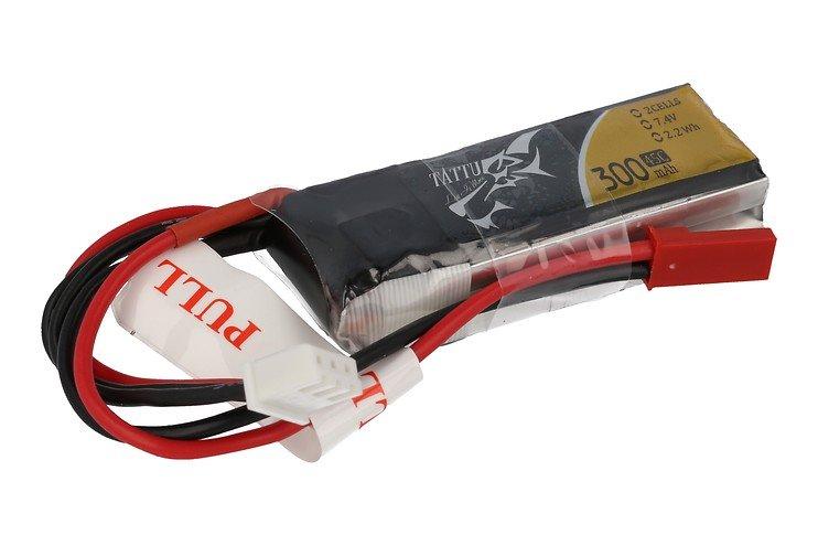 Tattu Batterie LiPo Akku 300mAh 7.4V 45C 2S1P mit JST Plug