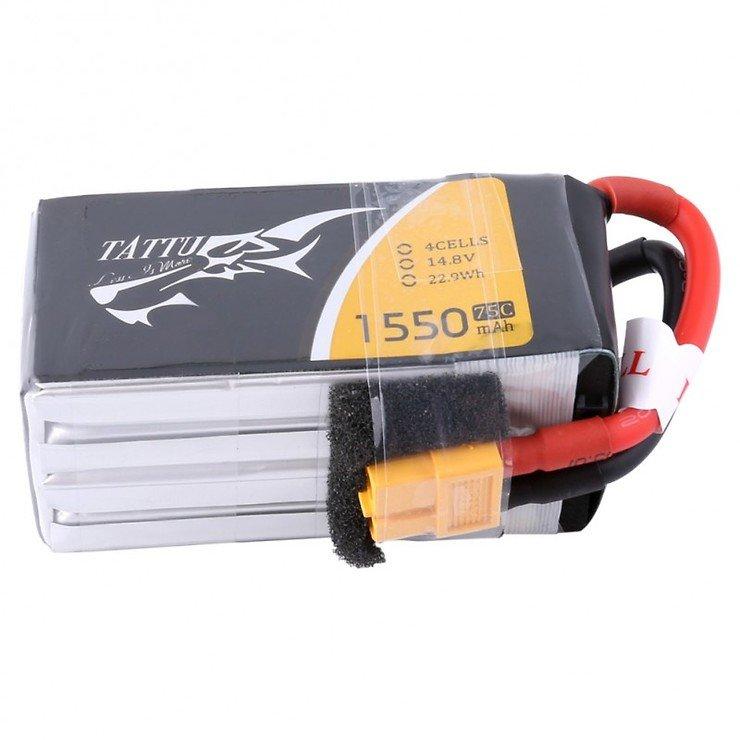 Tattu Batterie LiPo Akku 1550mAh 4s 75C mit abnehmbaren Balance Stecker - Pic 3