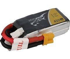 Tattu Batterie LiPo Akku 450mAh 2S1P 75C 7.4V