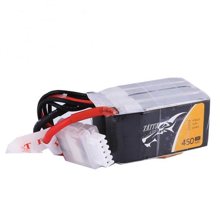 Tattu Batterie LiPo Akku 450mAh 14.8V 75C 4S1P - Pic 1