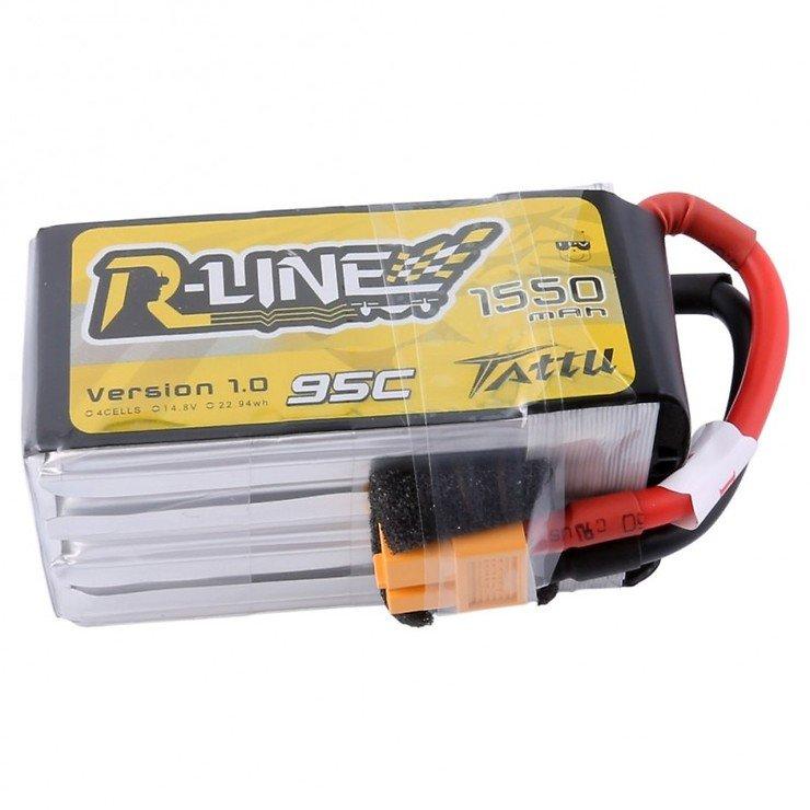 Tattu R-Line Batterie LiPo Akku 1550mAh 4s 95C mit abnehmbaren Balance Stecker - Pic 3