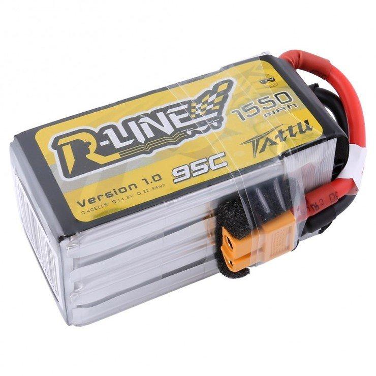 Tattu R-Line Batterie LiPo Akku 1550mAh 4s 95C mit abnehmbaren Balance Stecker - Pic 2