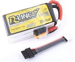 Tattu R-Line Batterie LiPo Akku 1550mAh 4s 95C mit abnehmbaren Balance Stecker