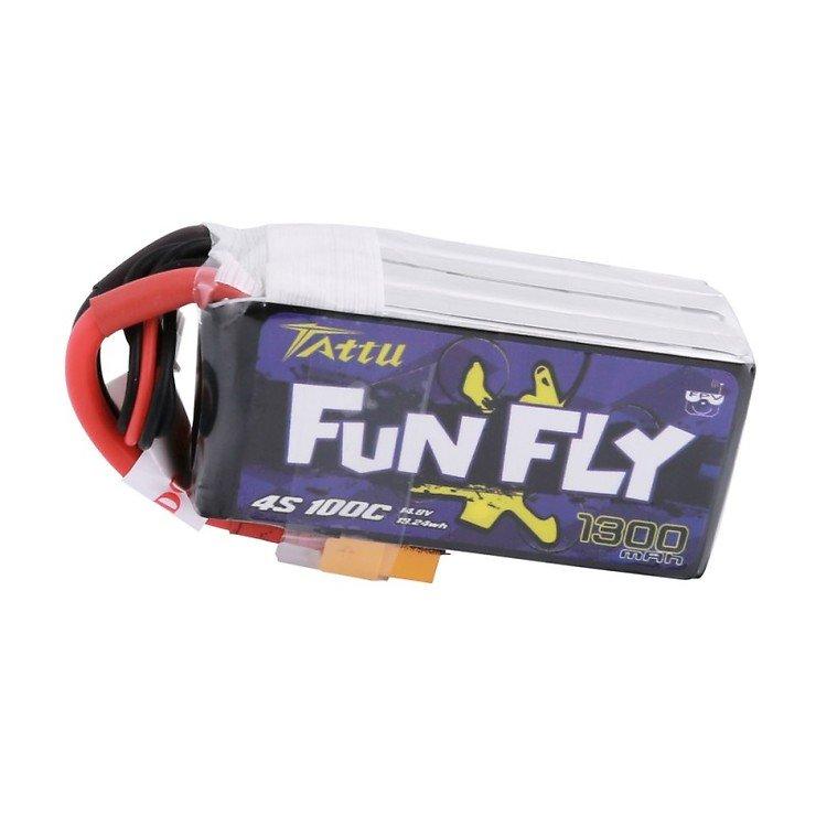 Tattu Funfly Serie 1300mAh 14.8V 100C 4S1P Batterie LiPo Akku - Pic 2