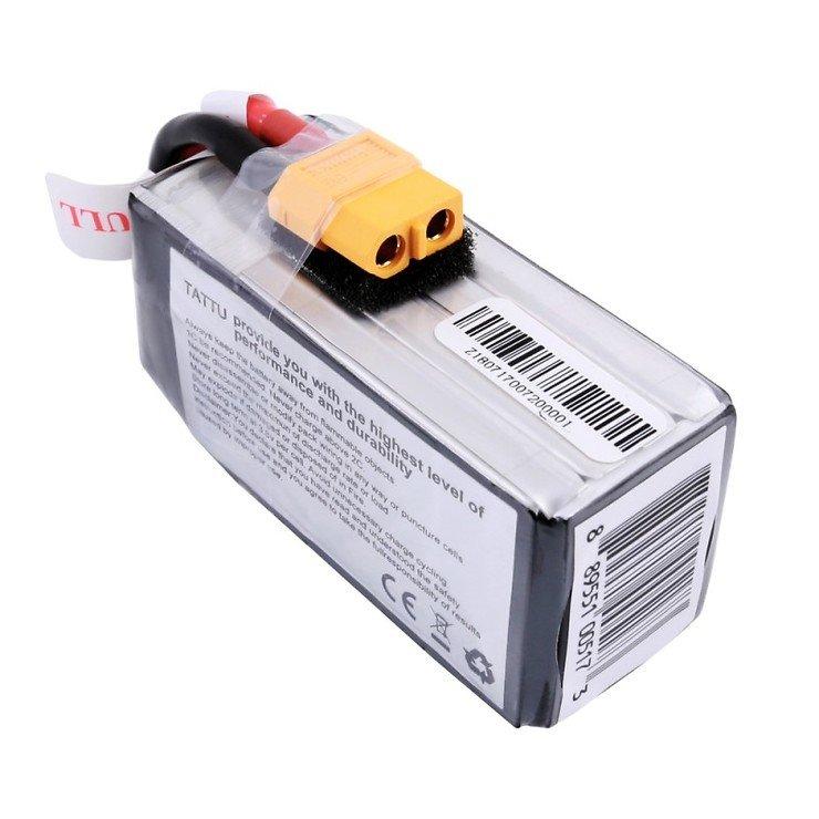 Tattu Funfly Serie 1300mAh 14.8V 100C 4S1P Batterie LiPo Akku - Pic 3