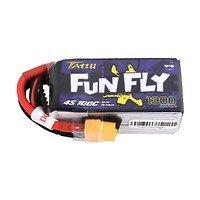 Tattu Funfly Serie 1300mAh 14.8V 100C 4S1P Batterie LiPo Akku