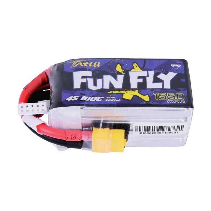 Tattu Funfly Serie 1550mAh 14.8V 100C 4S1P Batterie LiPo Akku - Pic 1