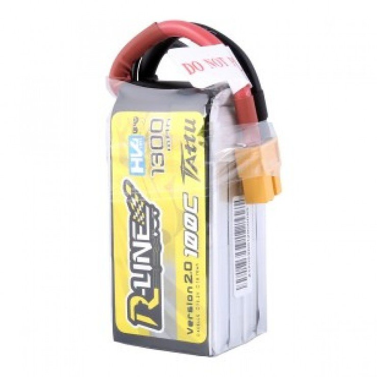 Tattu  R-Line Batterie LiPo Akku 1300mAh 100C 4S1P 15.2V High Voltage Version 2.0 - Pic 2