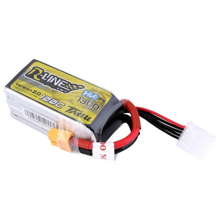 Tattu  R-Line Batterie LiPo Akku 1300mAh 100C 4S1P 15.2V High Voltage Version 2.0 - Pic 3