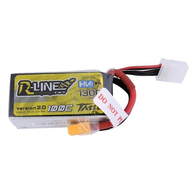 Tattu  R-Line Batterie LiPo Akku 1300mAh 100C 4S1P 15.2V High Voltage Version 2.0 - Pic 1