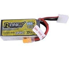 Tattu  R-Line Batterie LiPo Akku 1300mAh 100C 4S1P 15.2V High Voltage Version 2.0