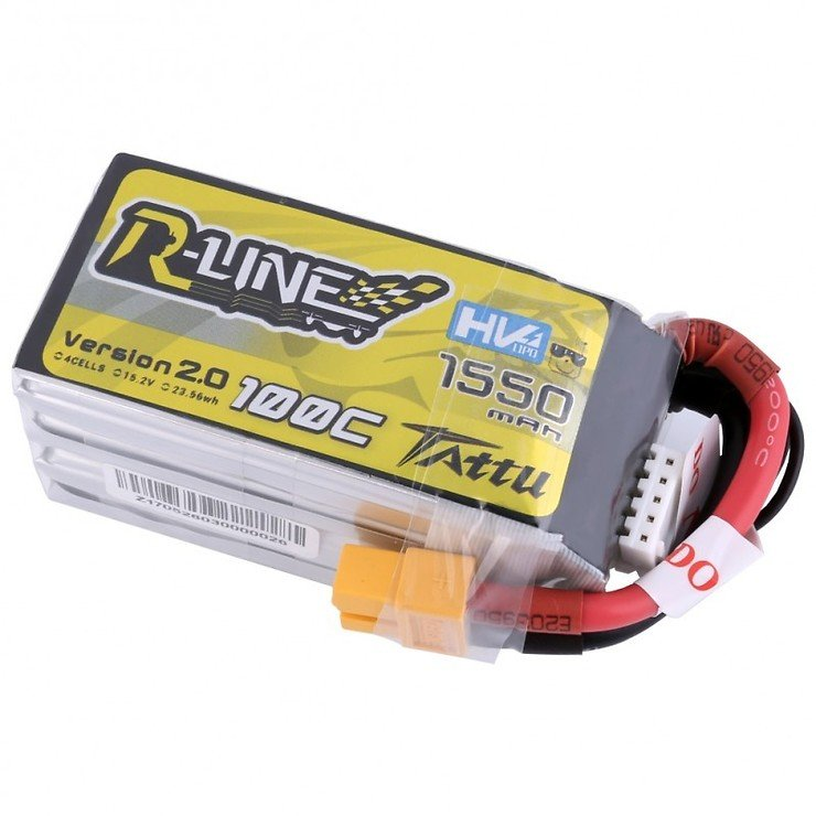 Tattu R-Line Batterie LiPo Akku 1550mAh 100C 4S1P 15.2V High Voltage Version 2.0 - Pic 2