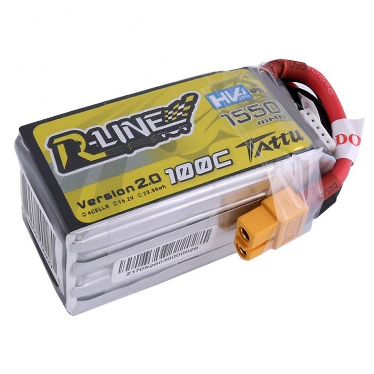 Tattu R-Line Batterie LiPo Akku 1550mAh 100C 4S1P 15.2V High Voltage Version 2.0 - Pic 3