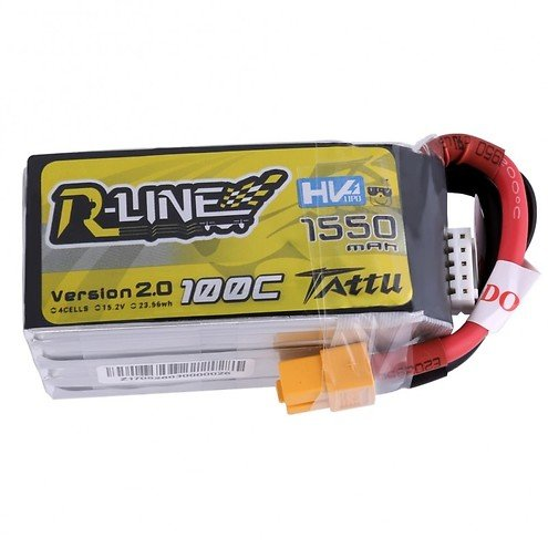Tattu R-Line Batterie LiPo Akku 1550mAh 100C 4S1P 15.2V High Voltage Version 2.0