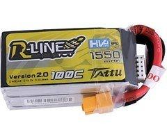 Tattu R-Line Batterie LiPo Akku 1550mAh 100C 4S1P 15.2V High Voltage Version 2.0