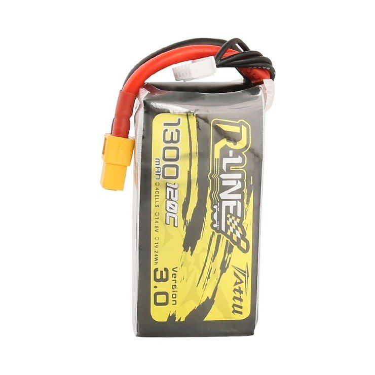 Tattu R-Line V3 Batterie LiPo Akku 1300 mAh 4S1P 120C XT60 - Pic 2
