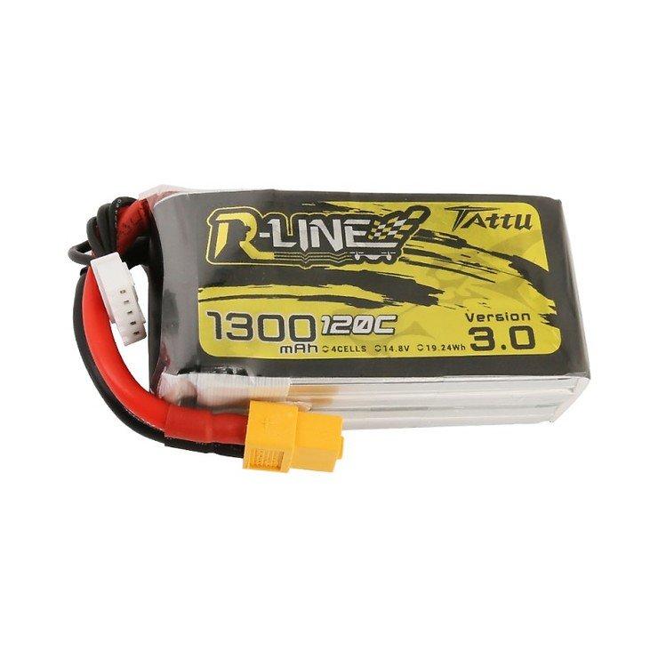 Tattu R-Line V3 Batterie LiPo Akku 1300 mAh 4S1P 120C XT60 - Pic 1