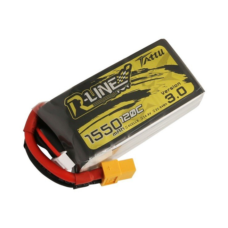 Tattu R-Line V3 Batterie LiPo Akku 1550 mAh 4S1P 120C XT60 - Pic 2