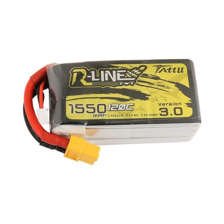 Tattu R-Line V3 Batterie LiPo Akku 1550 mAh 4S1P 120C XT60 - Pic 1