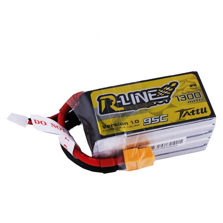 Tattu R-Line Batterie LiPo Akku 1300mAh 95C 5S1P - Pic 1