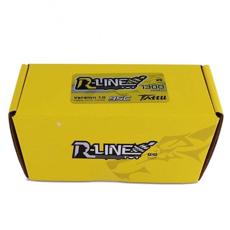 Tattu R-Line Batterie LiPo Akku 1300mAh 95C 6S1P - Pic 3