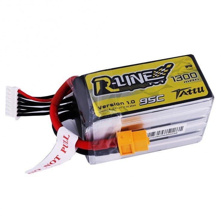 Tattu R-Line Batterie LiPo Akku 1300mAh 95C 6S1P - Pic 1