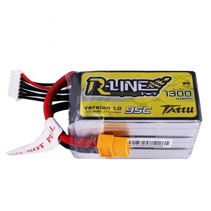 Tattu R-Line Batterie LiPo Akku 1300mAh 95C 6S1P - Pic 2