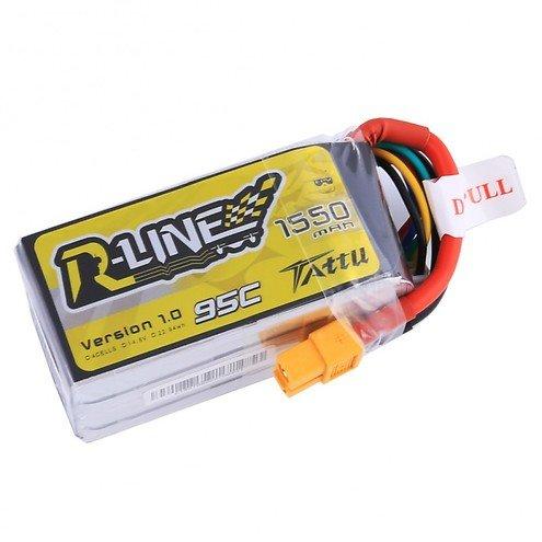 Tattu R-Line Batterie LiPo Akku 1550mAh 95C 4S1P