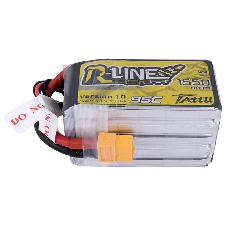 Tattu R-Line Batterie LiPo Akku 1550mAh 95C 5S1P - Pic 3