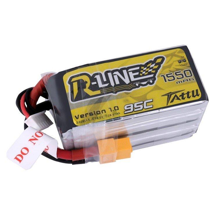 Tattu R-Line Batterie LiPo Akku 1550mAh 95C 5S1P - Pic 1