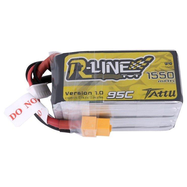 Tattu R-Line Batterie LiPo Akku 1550mAh 95C 5S1P - Pic 2