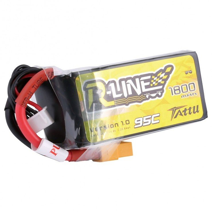 Tattu R-Line Batterie LiPo Akku 1800mAh 95C 4S1P - Pic 2