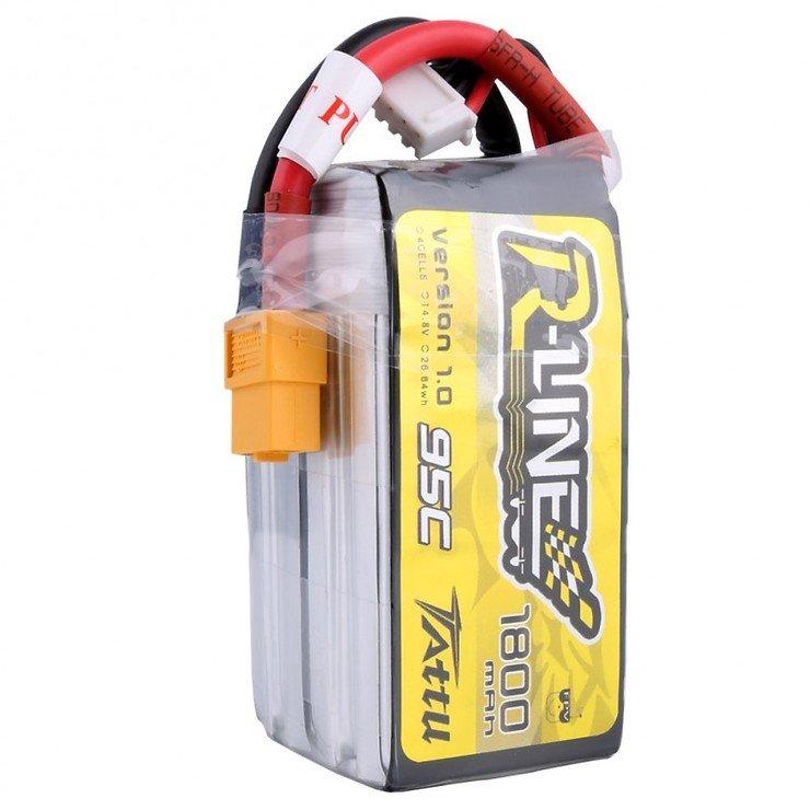 Tattu R-Line Batterie LiPo Akku 1800mAh 95C 4S1P - Pic 3
