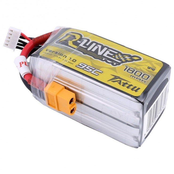 Tattu R-Line Batterie LiPo Akku 1800mAh 95C 4S1P - Pic 1