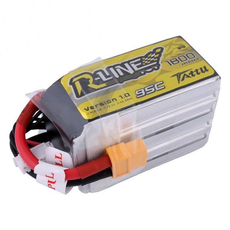 Tattu R-Line Batterie LiPo Akku 1800mAh 95C 5S1P - Pic 3