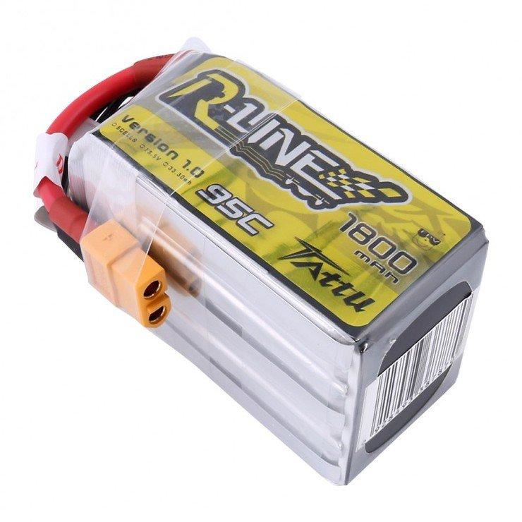 Tattu R-Line Batterie LiPo Akku 1800mAh 95C 5S1P - Pic 2