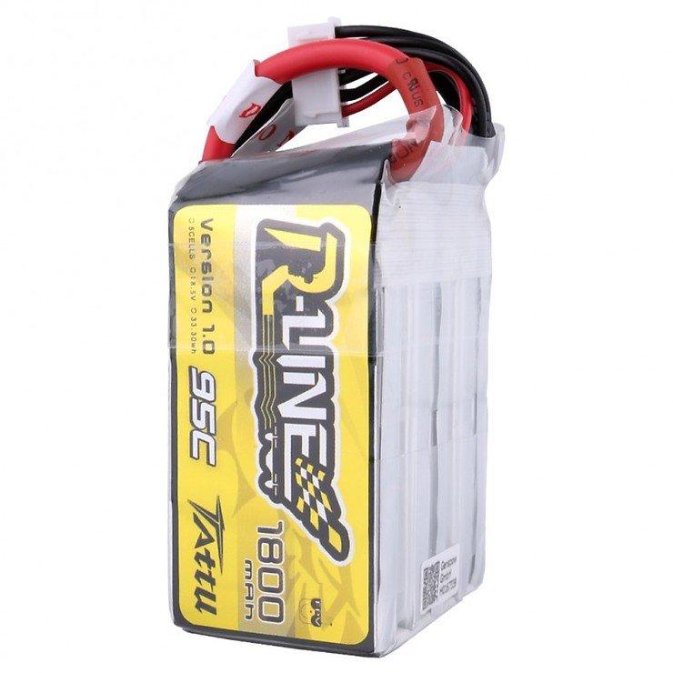 Tattu R-Line Batterie LiPo Akku 1800mAh 95C 5S1P - Pic 4