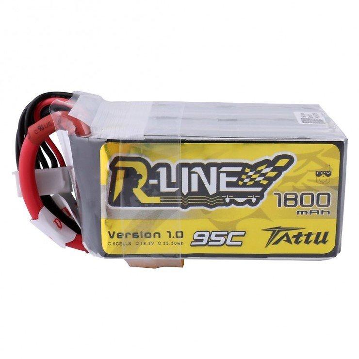 Tattu R-Line Batterie LiPo Akku 1800mAh 95C 5S1P - Pic 1