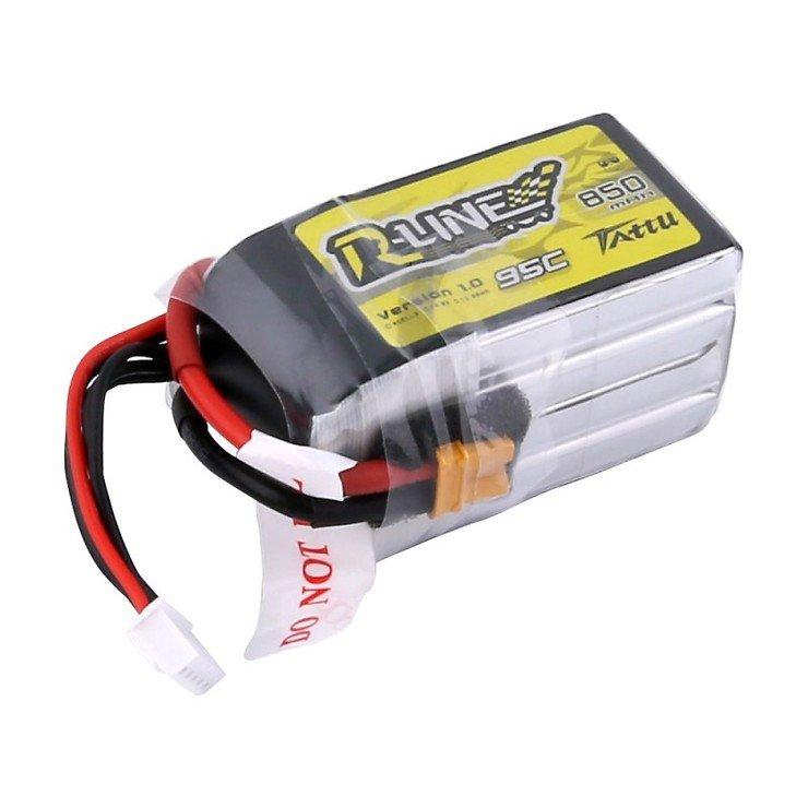 Tattu R-Line Batterie LiPo Akku 850mAh 95C 4S1P XT30 - Pic 2