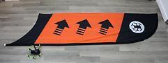 TBS Racing Flagge Checkpoint oder Kurve (Orange)