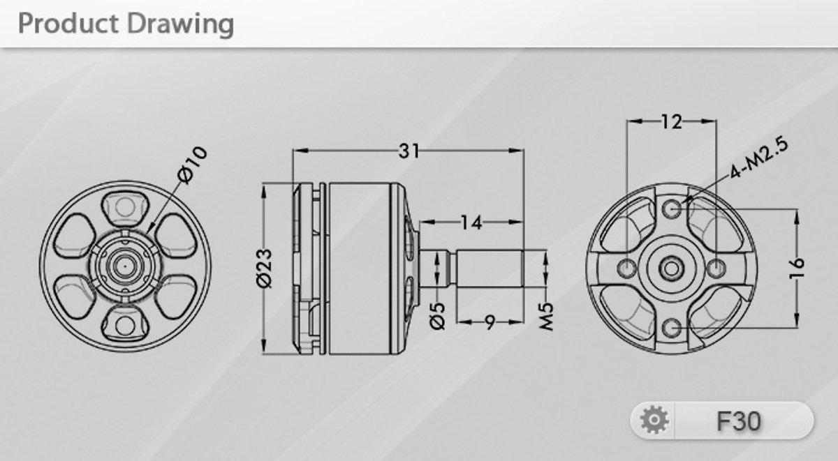 T-Motor F30 2800KV (2pcs) - Pic 5