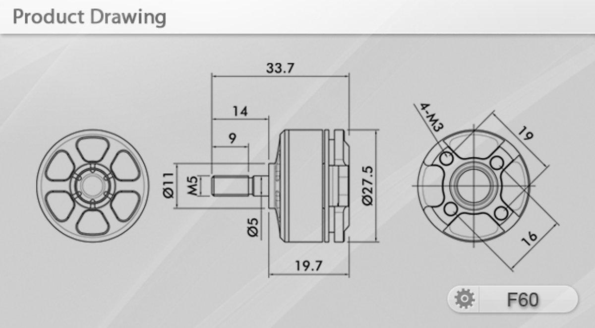 T-Motor F-Series F60 2450kv 2er Set - Pic 2