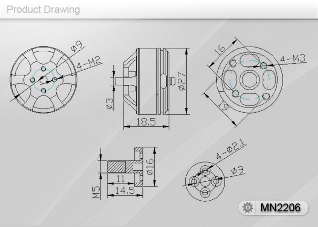 T-Motor MN2206 2000 KV - Pic 3