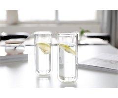 Viva Scandinavia Longdrinkglas 2er Set Classic 0,33 l Glas doppelwandig transparent