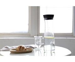 Viva Scandinavia Karaffe Minima Curve 1,3 l  Glas Silikon schwarz