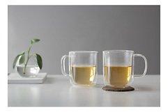 Viva Scandinavia Teetasse 2er Set Classic 0,4 l Glas doppelwandig transparent