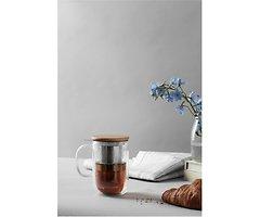 Viva Scandinavia Teetasse Minima Balance Glas doppelwandig Holz natur