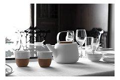 Viva Scandinavia Teeglas Lauren 2er Set 0,1 l Porzellan Kork natur
