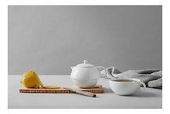 Viva Scandinavia Teekanne und Tasse Jaimi 0,3 l Porzellan weiß