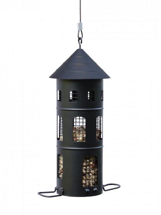 Wildlife Garden Vogelhaus Kombi-Futterstelle schwarz - Pic 1